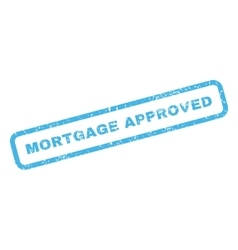 Mortgage approved rubber stamp vector