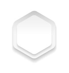 Empty hexagon sticker vector