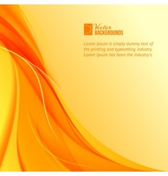 Orange smoke on yellow background vector