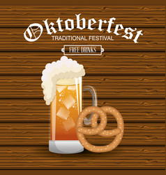 Oktoberfest traditional food isolated vector