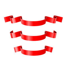 red ribbon banners vector image