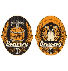 brewery label 02 vector image