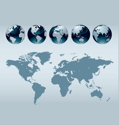 World globe maps vector