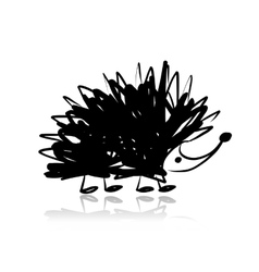 Funny hedgehog sketch for your design vector image