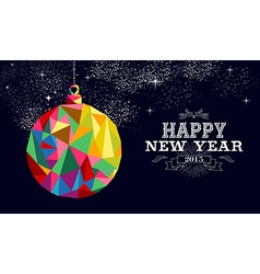 New year 2015 bauble ornament card vector