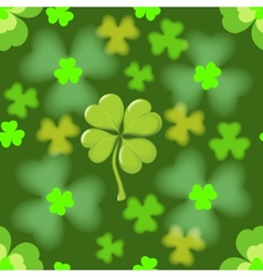 Seamless texture of the four leaf clover vector