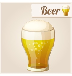 Detailed icon glass of beer vector