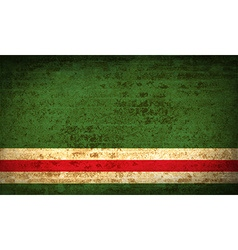 Flags chechen republic of ichke with dirty paper vector