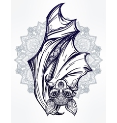 Ornate of a bat in vintage style vector