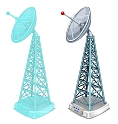 Hologram antenna tower two isolated items vector