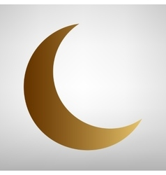 Moon sign flat style icon vector