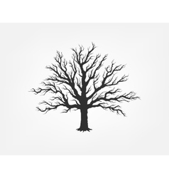 a tree in the garden ecology vector image
