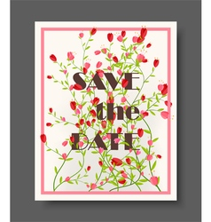 Retro beautiful flower design for wedding vector
