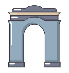Archway big icon cartoon style vector