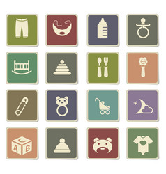 Baby toys icon set vector