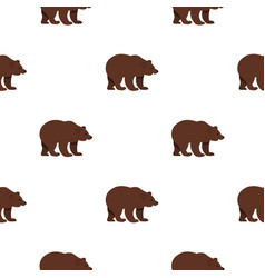 Bear pattern flat vector