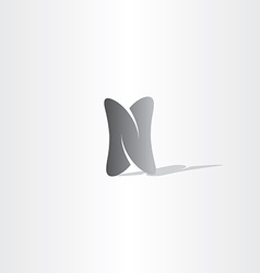 black logo n logo letter n icon vector image