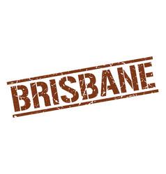 Brisbane brown square stamp vector