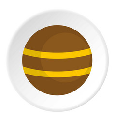 Brown with yellow stripes icon circle vector