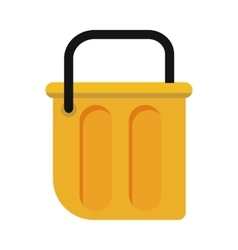 Bucket in flat style design vector