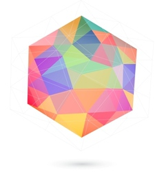 colorful icosahedron for graphic design vector image