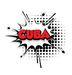 Comic text cuba sound effects pop art vector