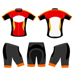 Cycling vest t shirt vector