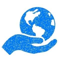 Earth care grainy texture icon vector