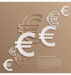 Euro signs background vector