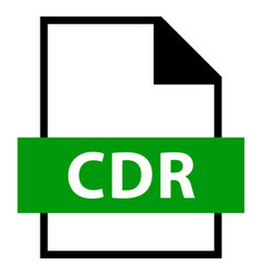 File name extension cdr type vector