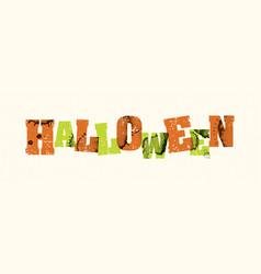 Halloween concept stamped word art vector