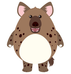 Hyena with round body vector