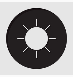 information icon - sun vector image vector image
