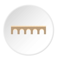 Long bridge icon flat style vector