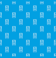 Mini mp3 portable player pattern seamless blue vector