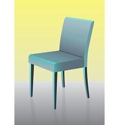 Modern dining chair vector