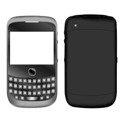 Phone cell gadget vector image vector image