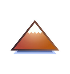 Picture of mountain with snow-capped peaks vector