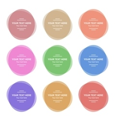 Set of Colorful Round Banners vector image