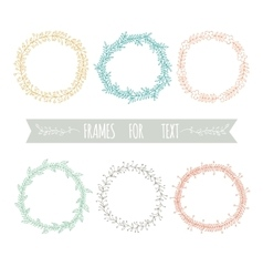 Set of graphic frames for text vector image vector image