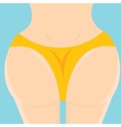 Sexy woman big booty girl in bikini vector image vector image