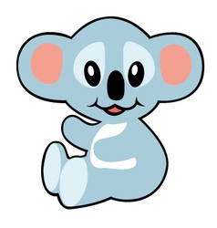 simple childish koala vector image