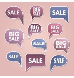 Text bubble sale vector