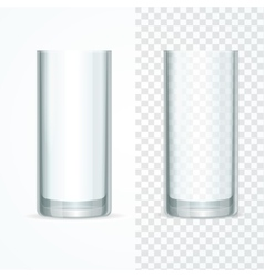 Transparent Glass Set vector image
