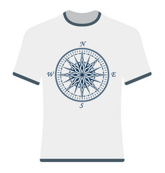 vintage compass rose t-shirt vector image vector image