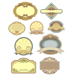 vintage labels collection 3 vector image vector image
