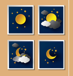 Weather night vector image