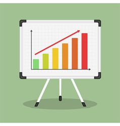 Whiteboard with Graph vector image