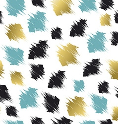 Pattern with abstract shapes in gold and blue vector image