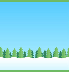 Seamless background with winter nature landscape vector